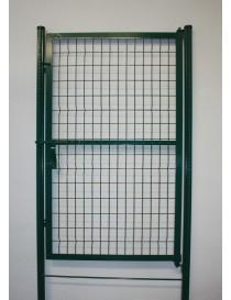 Puerta malla poste cremallera