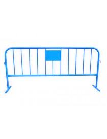 valla peatonal azul