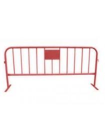valla peatonal roja
