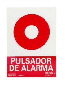 Señal pulsador de alarma