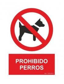 Señal prohibido perros