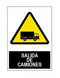 Señal salida camiones