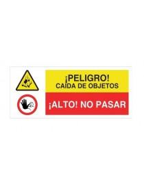 Señal peligro de objetos